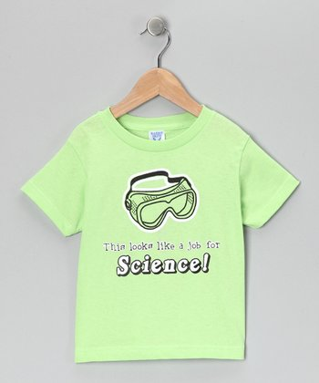Key Lime 'A Job for Science' Tee - Kids