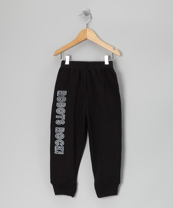 Black 'Robots Rock' Sweatpants - Toddler & Boys