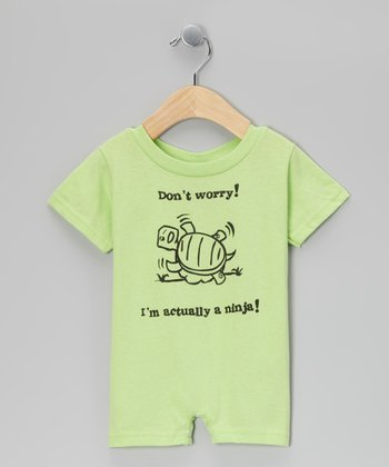 Key Lime 'I'm Actually a Ninja' Romper - Infant