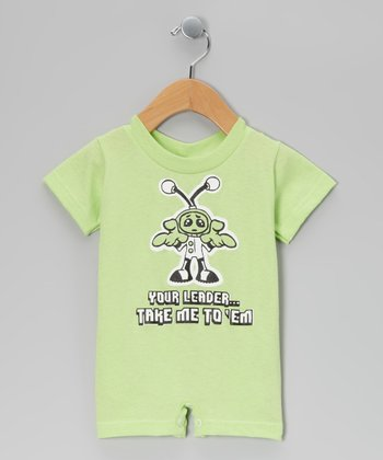 Key Lime 'Take Me To Your Leader' Romper - Infant