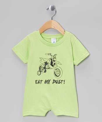 Key Lime 'Eat My Dust' Romper - Infant