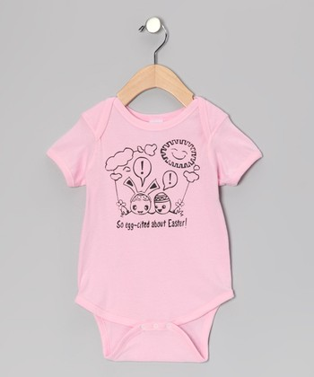 Rainbow Swirlz Pink 'Egg-Cited' Bodysuit - Infant