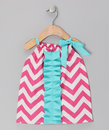 Pink Zigzag Ruffle Chelsea Dress - Infant, Toddler & Girls