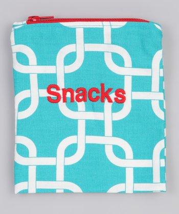 Caught Ya Lookin' Turquoise 'Snacks' Bag