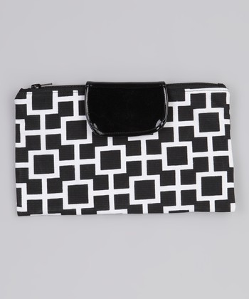 Black & White Latticescape Diaper Clutch