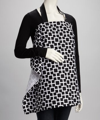 Black & White Lattice Nursing Cover
