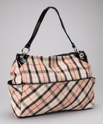 Tan & Black Carmelicious Diaper Bag