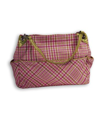 Pink Plaid Diaper Bag