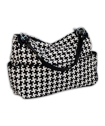 Black Houndstooth Diaper Bag