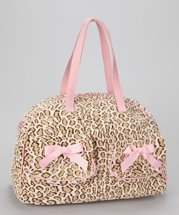 Pink & Cheetah Print Overnight Bag