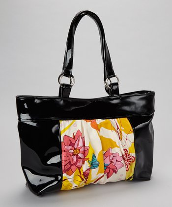 Black & Yellow Giggles Sassy Mom Diaper Bag