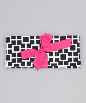 Black & White Latticescape Changing Pad