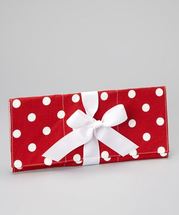 Red & White Polka Dot Changing Pad