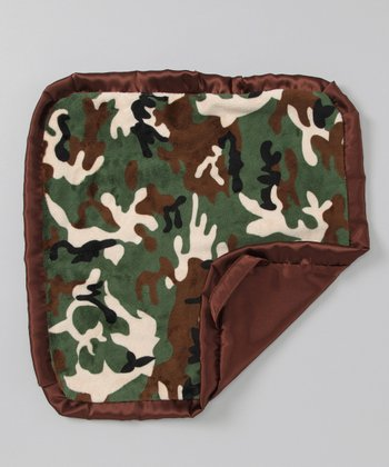 Green & Brown Camo Security Blanket