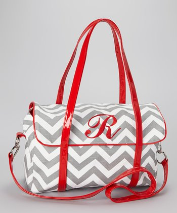 Gray Zigzag Portfolio Bag