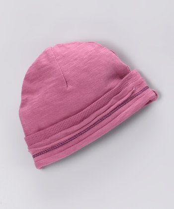 Mauve Over Organic Slub Beanie - Infant