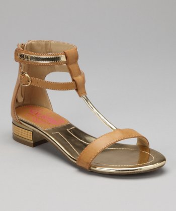 Natural Book Title Gladiator Sandal