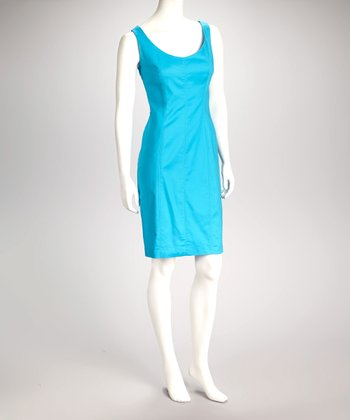 Turquoise Sheath Dress