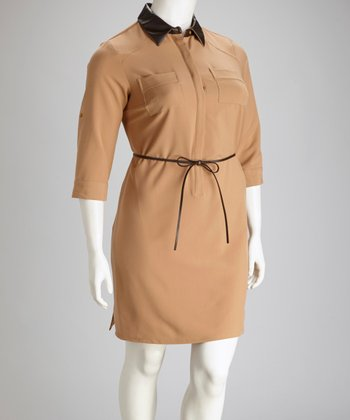 Mojavi Plus-Size Shirt Dress