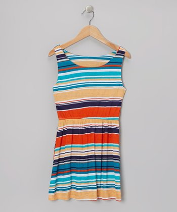 Orange Stripe Dress
