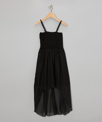 Black Hi-Low Dress - Girls
