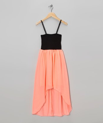 Coral Hi-Low Dress