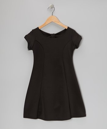 Black Bow Dress - Girls