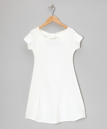 Ivory Bow Dress - Girls