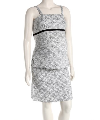 Gray Maternity Camisole & Skirt - Women