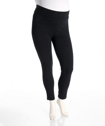 Black Maternity Leggings - Women