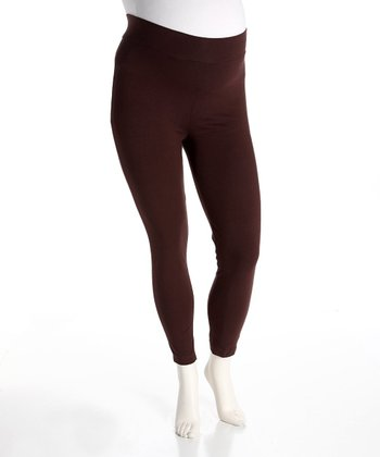 Brown Maternity Leggings - Women
