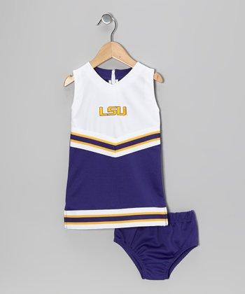 Purple LSU Cheer Dress & Undershorts - Toddler & Girls