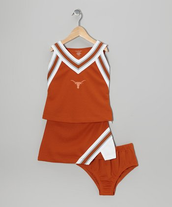 Burnt Orange Texas Pyramid Cheer Set - Toddler & Girls