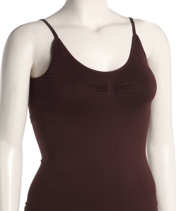 Brown Seamless Maternity Camisole