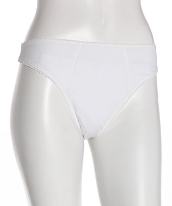 White Pointelle Maternity Thong