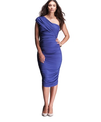 Electric Blue Asymmetrical Maternity Dress