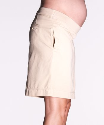 Stone Twill Maternity Skirt