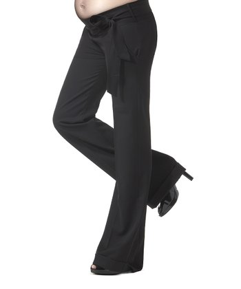 Caviar Black Garbo Under-Belly Maternity Trouser Pants