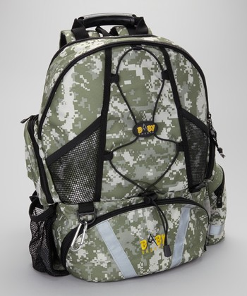 Digi Camo Four-in-One Diaper Backpack