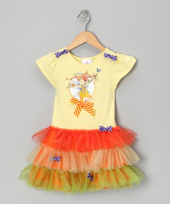 Yellow & Orange Fancy Nancy Dress - Toddler & Girls