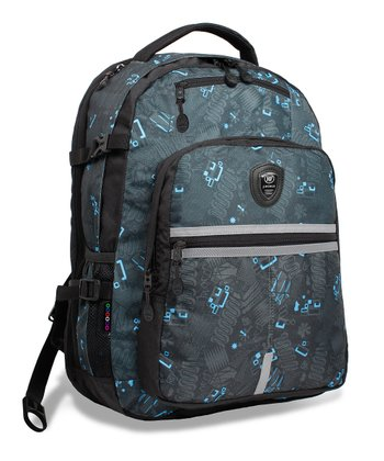 Black Blinker Cloud Laptop Backpack