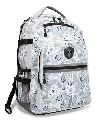 White Blinker Cloud Laptop Backpack