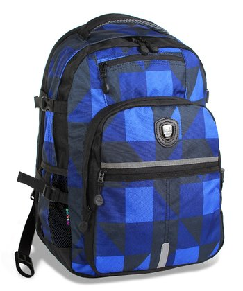 Navy Block Cloud Laptop Backpack