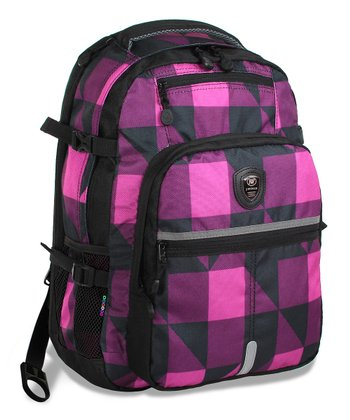Pink Block Cloud Laptop Backpack