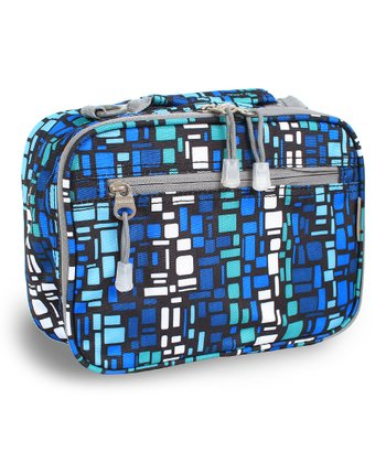 Blue Squares Cody Lunch Tote