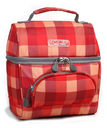 Red Checkerboard Corey Lunch Tote