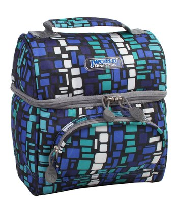 Blue Squares Corey Lunch Tote