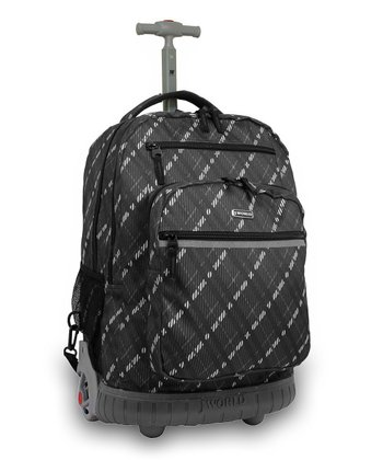 Preppy Gray Sundance Wheeled Backpack