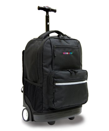 Black Sunset Wheeled Backpack