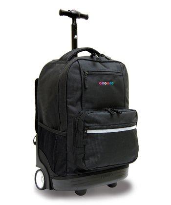 Black Sunset Wheeled Backpack